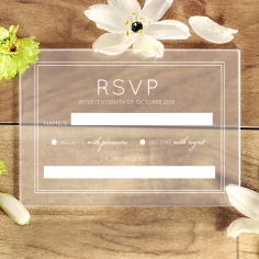 Luxe Acrylic Elegance rsvp card