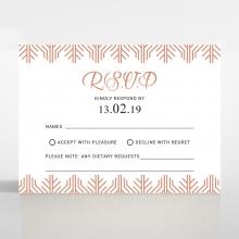 Luxe Rhapsody rsvp wedding card