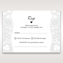 Luxurious Embossing with White Bow rsvp invite