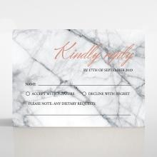 Marble Minimalist rsvp invitation