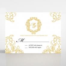 Modern Crest wedding rsvp card