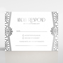 Modern Deco rsvp enclosure card