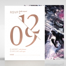 Mulberry Mozaic  with Foil rsvp design