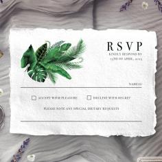 Palm Leaves rsvp card design