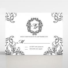 Paper Aristocrat rsvp wedding enclosure design