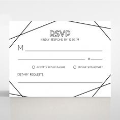 Paper Art Deco wedding rsvp card