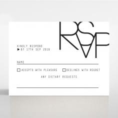 Paper Minimalist Love rsvp card design
