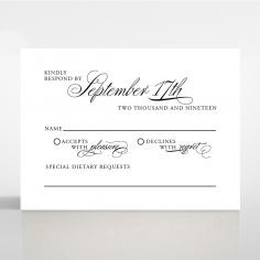 Paper Timeless Romance wedding rsvp card