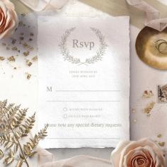 Preppy Wreath rsvp wedding enclosure card