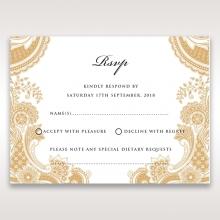 Prosperous Golden Pocket rsvp wedding enclosure invite design