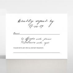 Pure Charm rsvp wedding card
