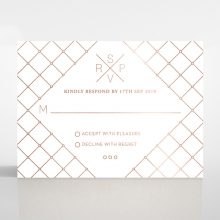 Quilted Grace rsvp card design