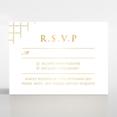 Quilted Letterpress Elegance with foil rsvp