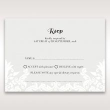 Regal Romance rsvp invitation