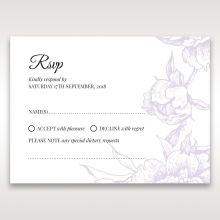 Romantic Rose Pocket rsvp wedding enclosure card design