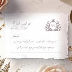 Royal Crest wedding rsvp card
