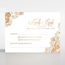 Royal Embrace rsvp wedding card design