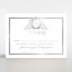 Royal Lace with Foil rsvp wedding enclosure card design