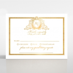 Royal Lace with Foil rsvp wedding enclosure design