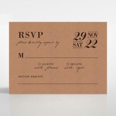 Rustic Love Notes rsvp wedding enclosure card design
