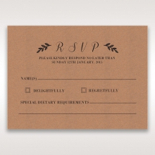 Rustic wedding rsvp card