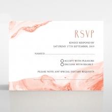 Serenity Marble wedding rsvp card
