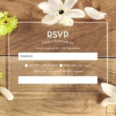 Silver Chic Charm Acrylic rsvp invite design