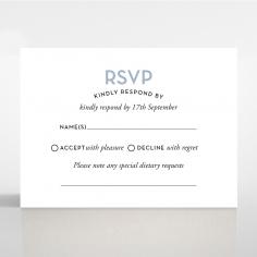 Silver Chic Charm Paper rsvp invite design