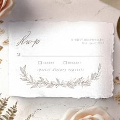 Simple Charm rsvp invitation