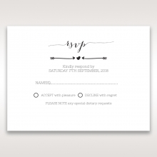 Simply Rustic rsvp enclosure card