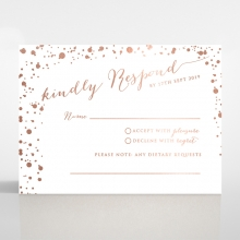 Star Dust rsvp invitation design