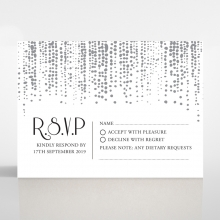 Star Shower wedding rsvp card