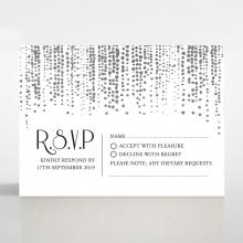 Star Shower rsvp card design