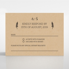 Sweetly Rustic rsvp wedding enclosure invite design