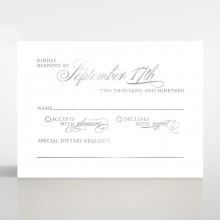 Timeless Romance rsvp wedding enclosure invite design