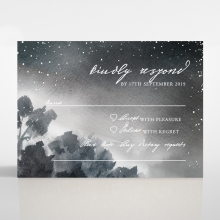 Under the Stars wedding rsvp card