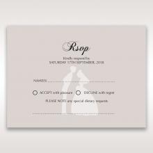 Wedded Bliss rsvp card