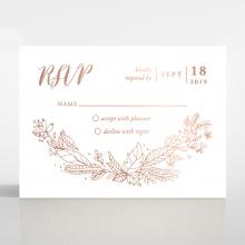 Whimsical Garland wedding rsvp card