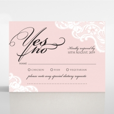White Lace Drop rsvp invitation design