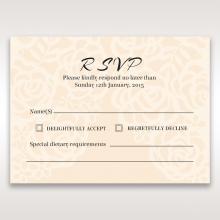 Wild Laser cut Flowers wedding rsvp card