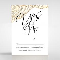 Woven Love Letterpress rsvp enclosure card