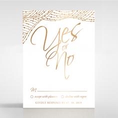 Woven Love Letterpress with foil rsvp invite