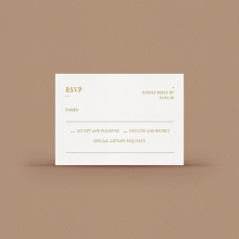 Hot foil stamped RSVP - Reception Cards - DV116092-GW-GG-1 - 178139