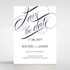 A Polished Affair save the date card