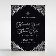 Ace of Spades save the date invitation stationery card