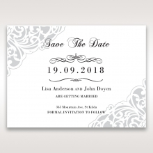 An Elegant Beginning wedding stationery save the date card item