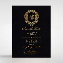 Aristocrat wedding stationery save the date card design