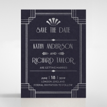 Art Deco Allure save the date wedding card