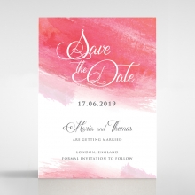 At Sunset wedding save the date card design