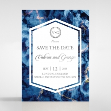 Azure  with Foil save the date card design